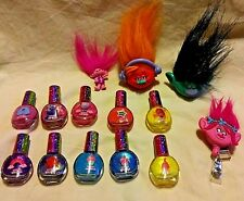 Troll Dolls Lot 10 Nail Polishes 2 Pencil Toppers Figure YoYo Retractable Holder