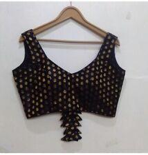 Readymade stitched Indian saree banarasi brocade blouse design latest sari choli