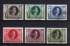 1486-GERMAN EMPIRE-Third reich.1943.WWII.NAZI Set ADOLF HITLER.Used.Mich.844-849