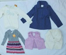 Gymboree  Girl  Fall/winter lote 5 pces  Striped Dress-sweeter-vest  S 5-6