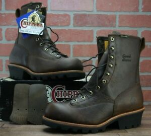 "Chippewa 8"" Lace to Toe Bay Apache Logger Boot 73100 Size 12 M Waterproof"