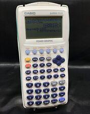Casio fx-9750G Plus Graphing Calculator Scientific Aqua w Case Cover Tested