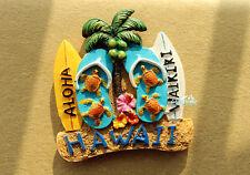 Waikiki Beach, Hawaii USA Reiseandenken 3D Kühlschrankmagnet Souvenir Magnet