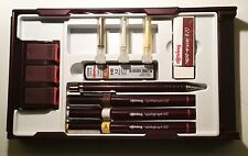 More details for rotring used rapidograph college pen set& pen stands