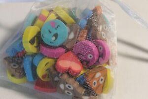 60 Mini Emoji Erasers Teacher Supply Sorting Math Counter Rewards