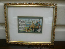 "New ListingCol Ww - Vintage Framed Advertising Print ""Heckers' Selfraising Buckwheat"""