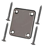 Electric Bass Guitar Neck Plates Neck Joint plate with Mounting screws BK Nickel