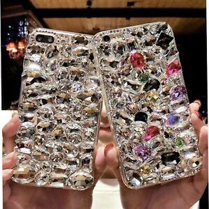 NEW COOL DIAMOND DESIGNER BLING DIAMANTE CASE COVER GIFT IPHONE SAMSUNG UK POST