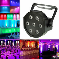 7x12 Watt 5in1 LED RGBW+Amber DMX512 Par Can Light DJ Stage Wedding Uplighting