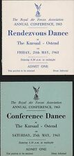 RAF Royal Air Force. The Kursaal, Ostend. Rendezvous Dance 1963.  JD.91