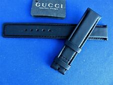 Original OEM GUCCI BLACK LEATHER Watch BAND Strap 16MM BRAND New FRANCE