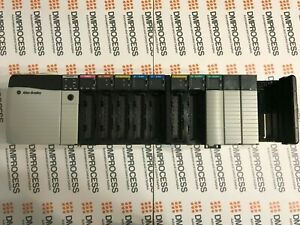 Allen Bradley CONTROLLOGIX PLC 13 SLOT CHASSIS PROCESSOR CARDS POWER SUPPLY
