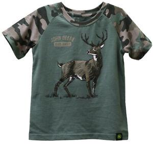NEW John Deere Toddler Olive Green Camo Deer T-Shirt 2T 3T