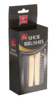 2pc Traditional Boot SHOE Brush Polish Buffing Buff Shine Leather Clean