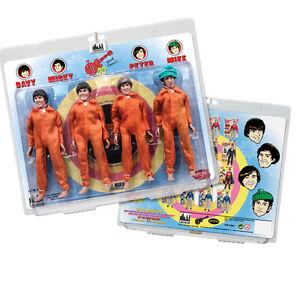 The Monkees 8 Inch Retro Action Figure Variants: Orange Jumpsuit Four-Pack