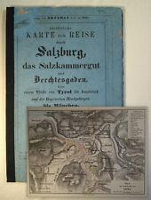 1846 Salzburg Ischl Salzkammergut Berchtesgaden Tirol Ausführliche Karte