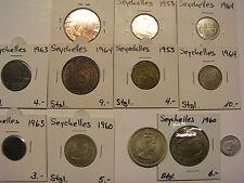 Seychellen Seychelles Münze 1 Cent 2 5 10 25 Cents 1 Rupie 1953-1972 zur Auswahl