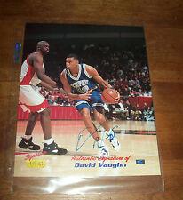 Signature Rookies University of Memphis David Vaughn Autographed Picture