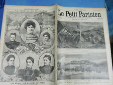 LE PETIT PARISIEN 1898 : 476 - ACCIDENT DE LA ROCHE-PIQUET DERAILLEMENT TRAIN