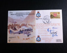 RAF B9 Flown & Signed FDC - D.H.9a - 60th Aniversary - Crew Signed by 5 (AFTAL)