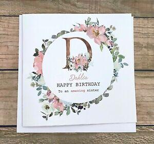 Personalised Birthday Card,Daughter,Granddaughter,Sister,Niece ,Friend, mum Cute