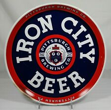 1930's Iron City Beer Tin Serving Tray Pittsburgh Brewing Co. Pennsylvania Pa