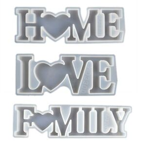 Silicone Mould LOVE HOME FAMILY Epoxy Resin Casting Mold DIY Sign Making