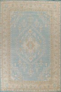 Vegetable Dye Geometric Oushak Turkish Area Rug Hand-knotted Wool 10'x14' Carpet