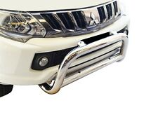 "Bullbar Nudge Bar S/S 304 3"" Grill Bumper Guard for Mitsubishi Triton MQ 15-18 D"