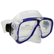Scuba Diving Snorkeling Mask Dive Goggles Down View Panoramic Silicone Skirt