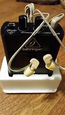 In Ear Monitor Hard-Wired Belt Pack System w/Earphones & Amp / Behringer-Mipro
