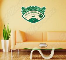 "Drunk Meter Irish Alcohol Funny Wall Sticker Room Interior Decor 25""X18"""