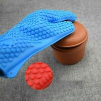 1* Kitchen Heat Resistant Silicone Gloves Oven Mitts Pot Holder Baking X1W6