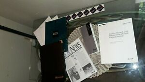 Lot of Microsoft Folders, Works Stickers, 1980's - 90s, 1992 2nd Quarter Report+