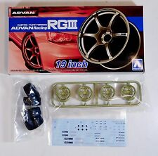 "Aoshima 1/24 Advan Racing RGIII 19"" Wheel & Tire For Plastic Models 5329 (34)"