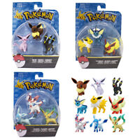 Pokemon Go Eevee Action Figure Toys Vaporeon Umbreon Espeon Sylveon 3 pcs / Sets