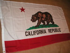 CALIFORNIA CALIFORNIAN FLAG 5'X3' BRAND NEW POLYESTER POST FREE IN UK