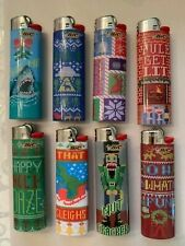 Bic Ugly Sweaters Series Lighters, Set of 8 Lighters, Special Limited Edition