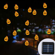 30 LED Solar String Lights 3D Jack-O-Lantern Pumpkin Halloween Decoration Lights