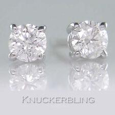 Not Enhanced White Gold VVS1 Fine Diamond Earrings
