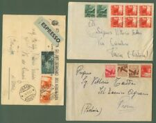 Due lettere e una cartolina espresso affrancate con valori serie Democratica