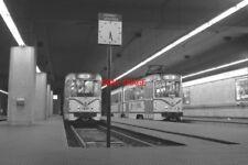 PHOTO  BELGIUM TRAM 1980 ROGIER (SUB) TRAM NO 7805 AND 7827 ON ROUTE 90 + CLOCK