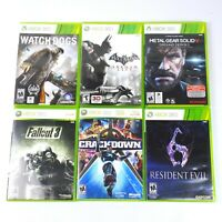 Xbox 360 Lot Of 6 Games Fallout 3 Metal Gear Solid Batman Resident Evil