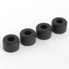 4x Caja Redonda instrumento del gabinete pie circular Pies de Goma Parachoques Negro #RF08