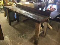 Vintage Rustic Wooden Work Bench
