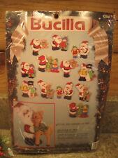 Bucilla Felt Applique Christmas Ornament Kit Jolly Old St. Nick Set of 12 New