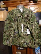AOR2 Nwu Woodland Camicia Tipo III USN Misura L Regolare Nuovo con Etichetta