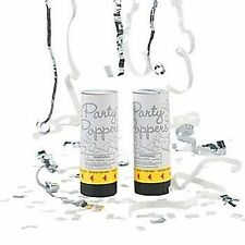 1 x WEDDING PARTY POPPERS Plastic Popper With Foil Metallic Streamers & Confetti