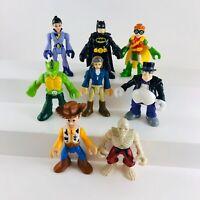 Lot of 8 Imaginext Batman Robin Penguin Woody Skeleton Pirate Thunder Twin Pilot