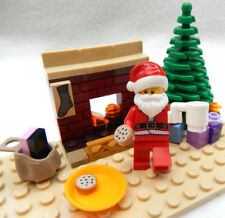 NEW LEGO SANTA CLAUS w/Christmas Tree Fireplace Gifts  minifigure minifig visit